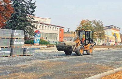 Jest opóźnienie z budową ronda i przebudową alei Jana Pawła II